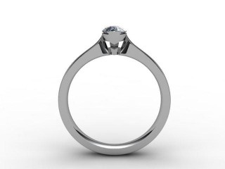 Certificated Marquise Diamond Solitaire Engagement Ring in Platinum - 3