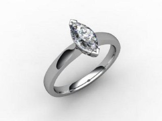 Certificated Marquise Diamond Solitaire Engagement Ring in Platinum - 12