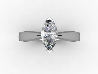 Certificated Marquise Diamond Solitaire Engagement Ring in Platinum - 9