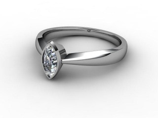 Certificated Marquise Diamond Solitaire Engagement Ring in Platinum