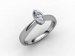 Certificated Marquise Diamond Solitaire Engagement Ring in Platinum - 15