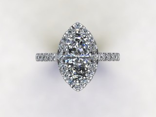 Certificated Marquise Diamond in Platinum - 12