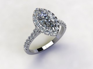 Certificated Marquise Diamond in Platinum - 15