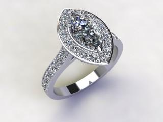 Certificated Marquise Diamond in Platinum - 15