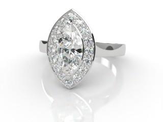 Certificated Marquise Diamond in Platinum