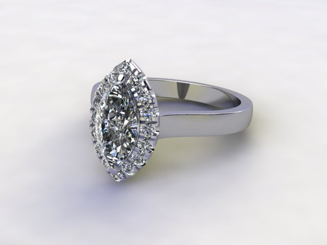 Certificated Marquise Diamond in Platinum