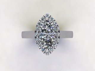 Certificated Marquise Diamond in Platinum - 9