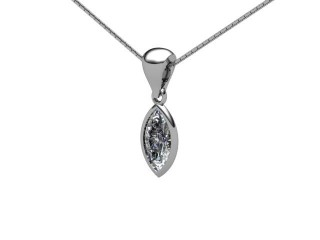 Certified Marquise Diamond Pendant  - 3