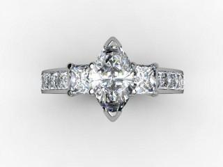 Certificated Marquise Diamond in Platinum - 9