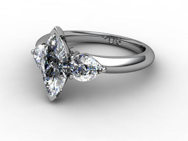 Trilogy Platinum Marquise & Pearshape Diamond
