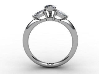 Trilogy Platinum Marquise & Pearshape Diamond - 6