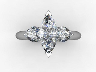 Trilogy Platinum Marquise & Pearshape Diamond - 12