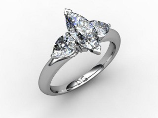 Trilogy Platinum Marquise & Pearshape Diamond - 15