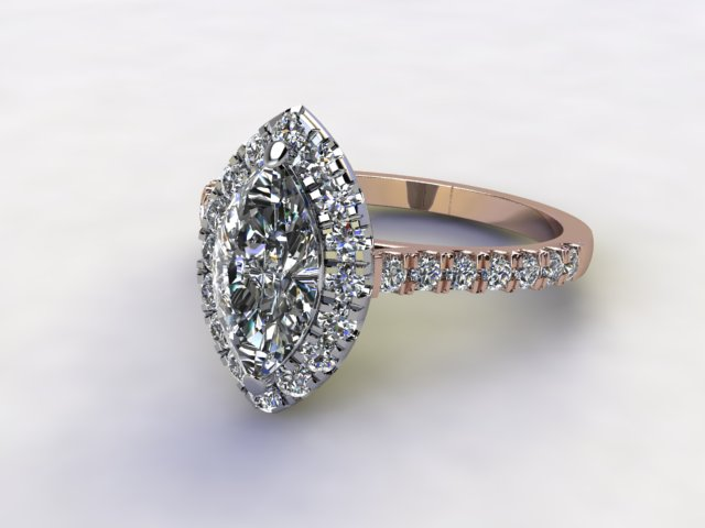 Certificated Marquise Diamond in 18ct. Rose Gold