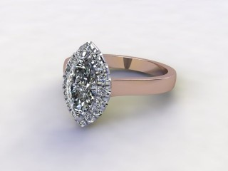 Certificated Marquise Diamond in 18ct. Rose Gold-07-0400-8937