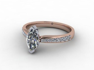 Certificated Marquise Diamond in 18ct. Rose Gold-07-0400-9225