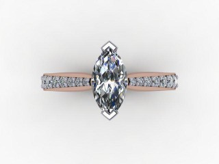 Certificated Marquise Diamond in 18ct. Rose Gold - 9