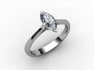 Certificated Marquise Diamond Solitaire Engagement Ring in 18ct. White Gold - 15