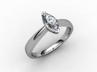 Certificated Marquise Diamond Solitaire Engagement Ring in 18ct. White Gold - 12