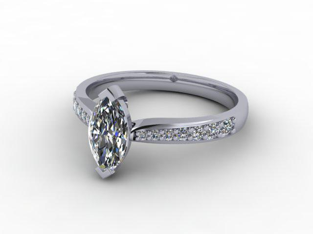Certificated Marquise Diamond in 18ct. White Gold - Main Picture