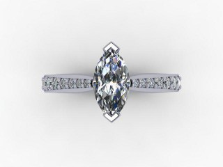 Certificated Marquise Diamond in 18ct. White Gold - 9