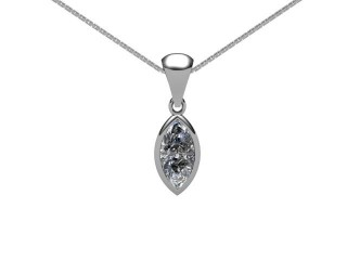 Certified Marquise Diamond Pendant-07-05001