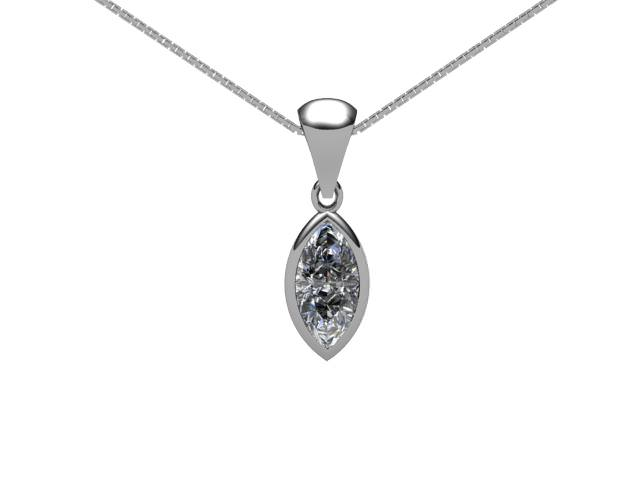 Certified Marquise Diamond Pendant
