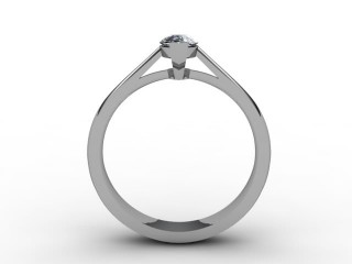 Certificated Marquise Diamond Solitaire Engagement Ring in 18ct. White Gold - 3
