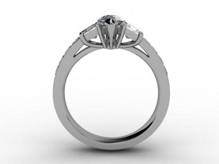 Certificated Marquise Diamond in 18ct. White Gold - 6