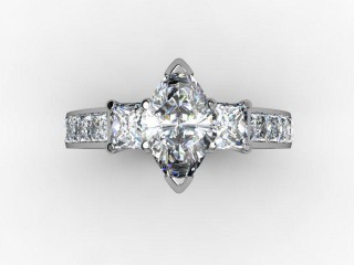 Certificated Marquise Diamond in 18ct. White Gold - 12