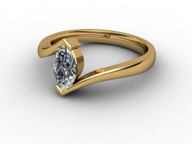 Certificated Marquise Diamond Solitaire Engagement Ring in 18ct. Gold