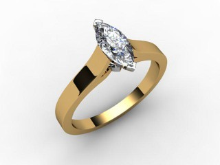 Certificated Marquise Diamond Solitaire Engagement Ring in 18ct. Gold - 15
