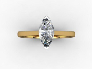 Certificated Marquise Diamond Solitaire Engagement Ring in 18ct. Gold - 9