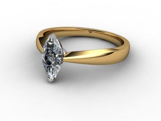 Certificated Marquise Diamond Solitaire Engagement Ring in 18ct. Gold-07-2800-0014