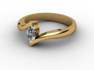 Certificated Marquise Diamond Solitaire Engagement Ring in 18ct. Gold-07-2800-0015