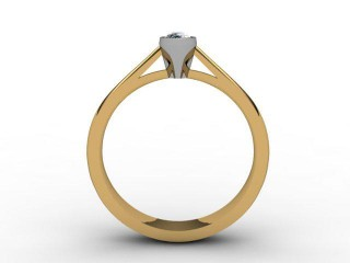 Certificated Marquise Diamond Solitaire Engagement Ring in 18ct. Gold - 3