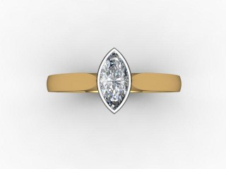 Certificated Marquise Diamond Solitaire Engagement Ring in 18ct. Gold - 12