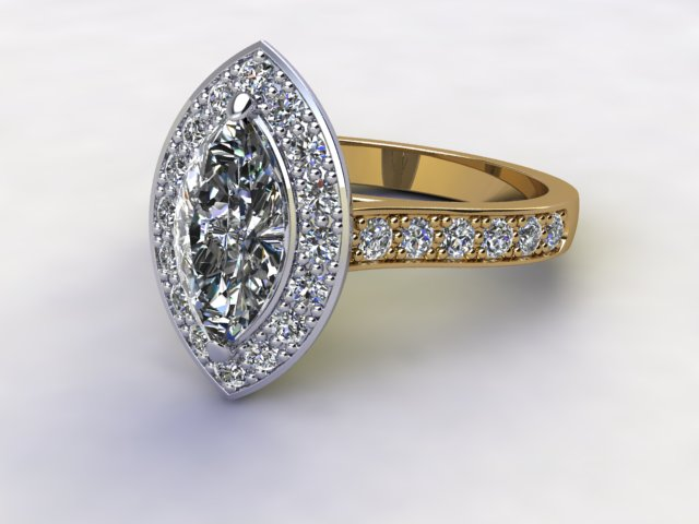 Certificated Marquise Diamond in 18ct. Gold