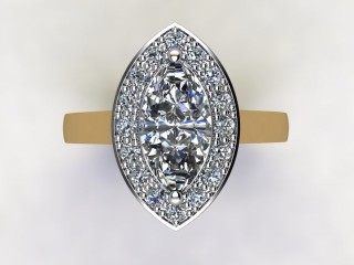 Certificated Marquise Diamond in 18ct. Gold - 12