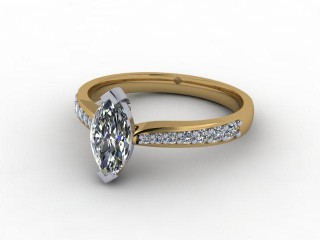 Certificated Marquise Diamond in 18ct. Gold-07-2800-9225