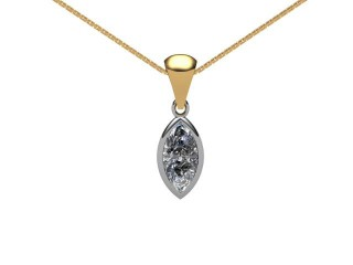 Certified Marquise Diamond Pendant-07-28001