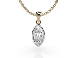 Certified Marquise Diamond Pendant-07-28001