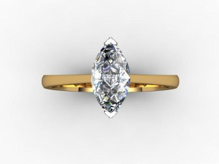 Certificated Marquise Diamond in 18ct. Gold - 9