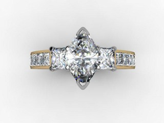 Certificated Marquise Diamond in 18ct. Gold-07-2810-8042