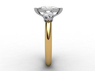 Trilogy 18ct. Yellow Gold Marquise & Pearshape Diamond - 9