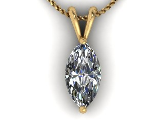Certified Marquise Diamond Pendant - 9
