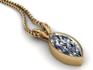 Certified Marquise Diamond Pendant-07-28912
