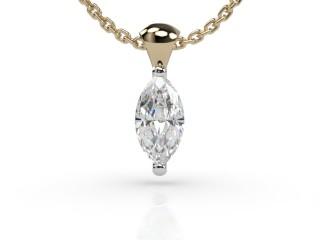 Certified Marquise Diamond Pendant-07-28913