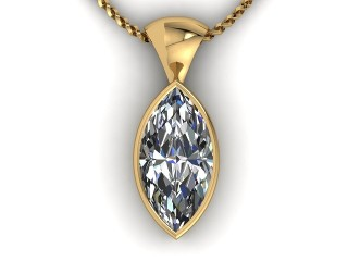 Certified Marquise Diamond Pendant - 9
