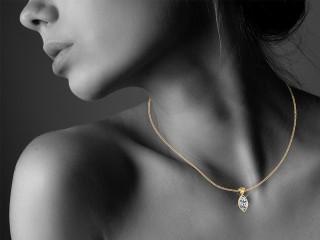 Certified Marquise Diamond Pendant - 12
